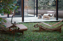 Contemporary lounge chair / in wood / indoor / outdoor