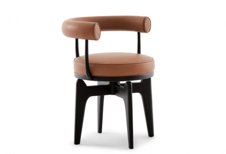 528-indochine-cassina-poltroncina-armchair-legno-noce-frassino-wood-walnut-ash-pelle-leather-tessuto-fabric-design-charlotte-perriand-original-2