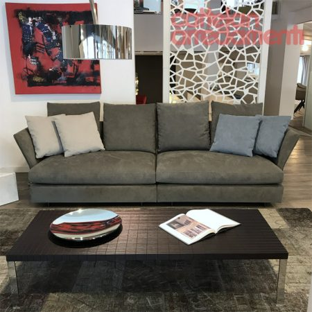 Holiday molteni divano sofa design tessuto alcantara originale outlet offerta expo sale (1)