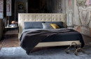 Double bed / regular / contemporary / upholstered