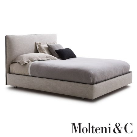 Letto matrimoniale ribbon bed molteni fabric leather design vincent van duysen moderno original (1)