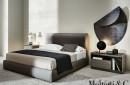 Letto matrimoniale ribbon bed molteni fabric leather design vincent van duysen moderno original (5)