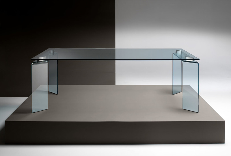 Fixed table ray by fiam italia cattelan arredamenti e for Glass tavoli cristallo