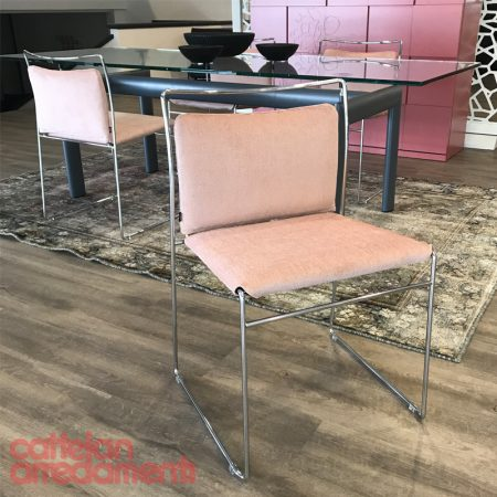 Sedia Tulu Cassina Simon Collezione chair design Kazuhide Takahama cromata chromed tessuto fabric original sale offerta outlet promo saldi (1)