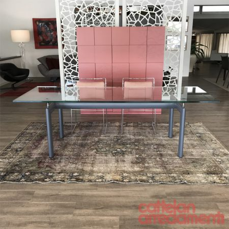lc6 cassina tavolo table design le corbusier original imaestri cristallo crystal glass moderno sale outlet offerta cattelan promo (1)