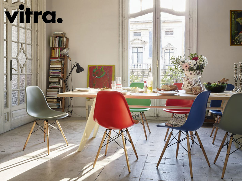 Eames Plastic Side Chair DSR DSW DSX by Vitra | Cattelan ...