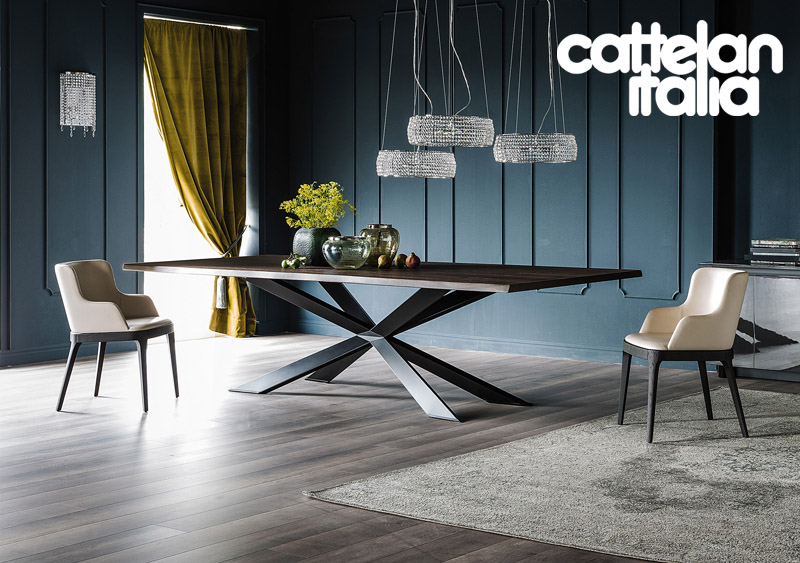 tavolo spyder wood di cattelan italia cattelan arredamenti. Black Bedroom Furniture Sets. Home Design Ideas