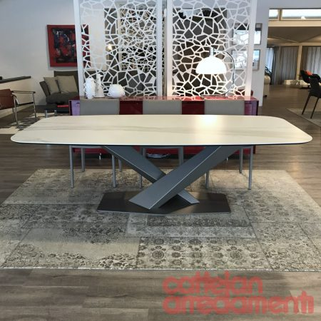 tavolo-stratos-keramik-cattelan-italia-table-arredament-base titanio-titanium-outlet-offerta-sale-best-price--miglior-prezzo-golden-calacatta-opaco-matt (1)