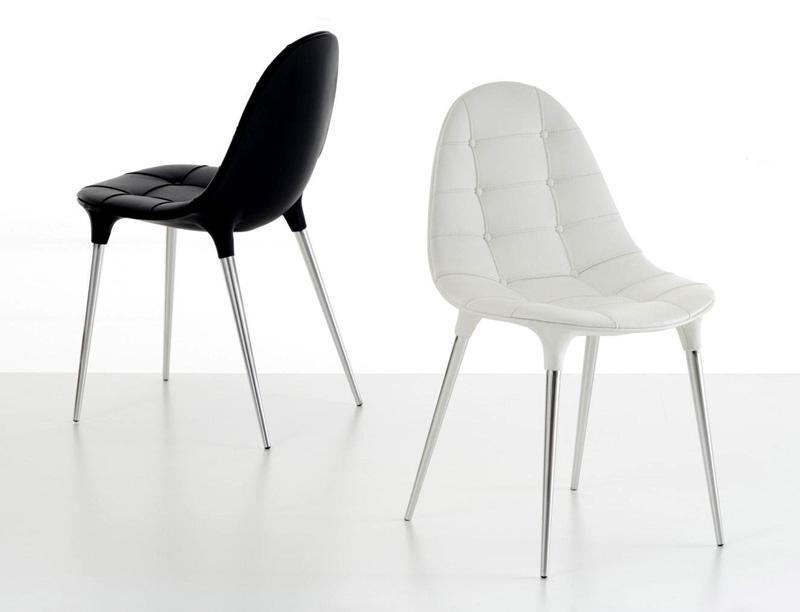 Caprice cassina sedia chair design philippe starck pelle