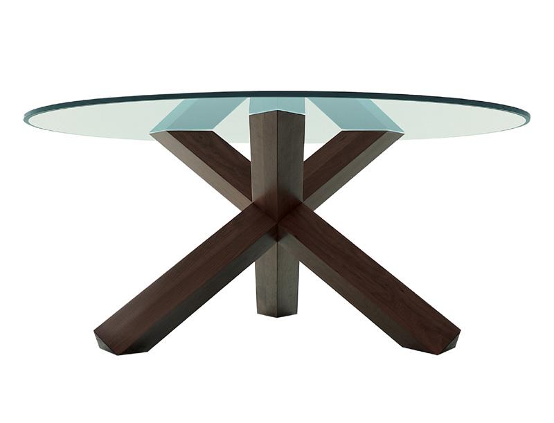 Tavoli Rotondi Cristallo Design.Tavolo E Tavolino 452 La Rotonda Di Cassina Cattelan Arredamenti