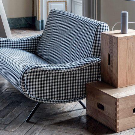 720 lady divanetto cassina divano sofa design marco zanuso tessuto pelle fabric leather iconic edition original imaestri