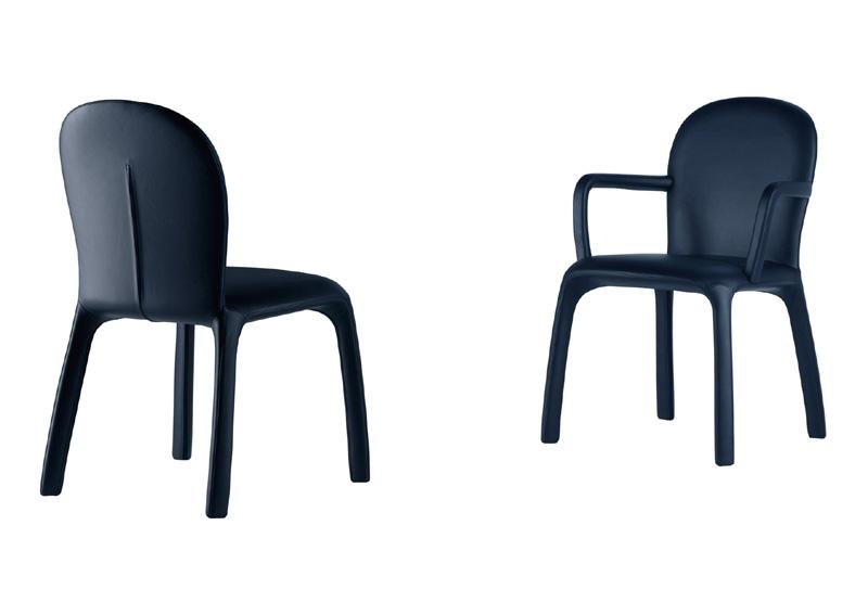 Amelie Poltrona Frau.Chair And Armchair Amelie By Poltrona Frau Cattelan