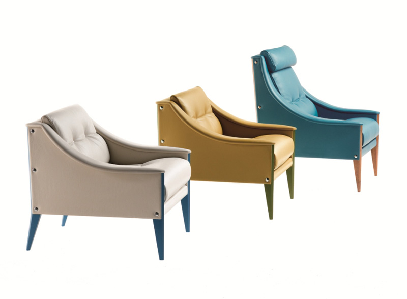 Poltrona Design.Armchair And Sofa Dezza By Poltrona Frau Cattelan Arredamenti