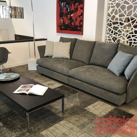Holiday molteni divano sofa design tessuto alcantara originale outlet offerta expo sale (2)
