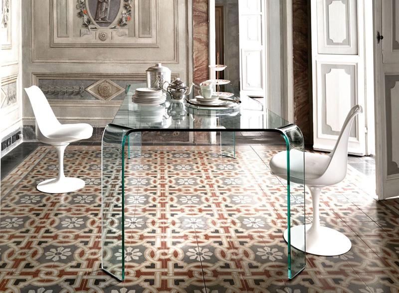 Tavoli In Cristallo Fiam.Ragno Fiam Italia Tavolo Monolitico Cristallo Vetro Curvato Design