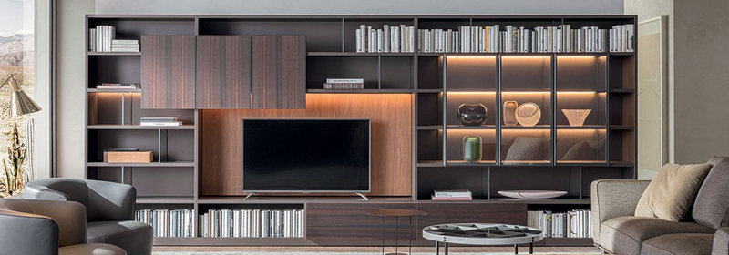 bookcases <span class='special_amp'>&</span> systems by cattelan home furnishing