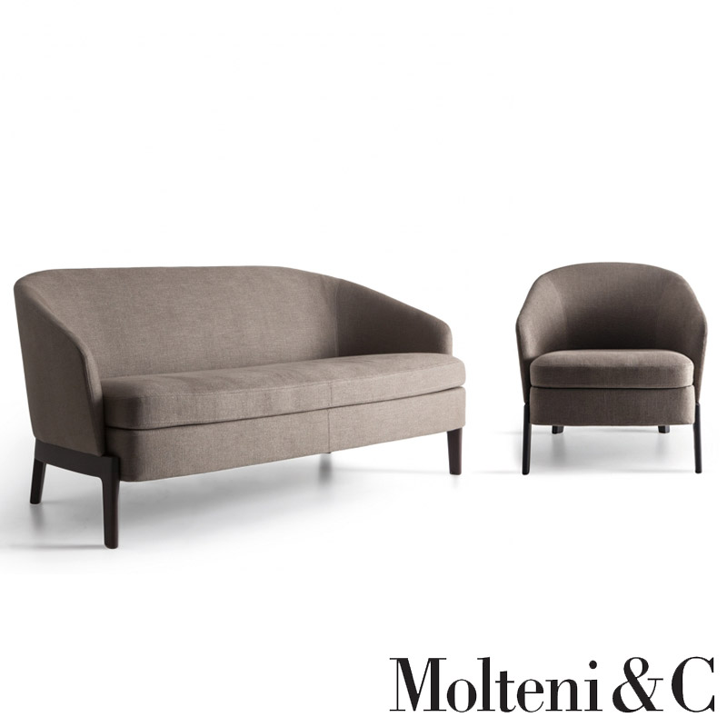 Small Sofa And Armchair Chelsea By Molteni Cattelan
