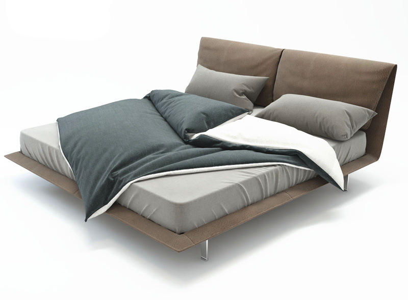 john-john bed poltrona frau letto pelle sc leather nest jean marie ...