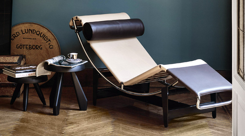 Chaiselongue le corbusier lc4 di cassina cattelan for Mobili cassina outlet