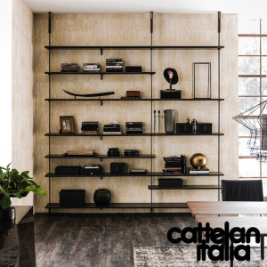 libreria-airport-cattelan-italia-montanti-bookcase-noce-canaletto-walnut-rovere-bruciato-burned-oak-original-moderno-offerta-sale-outlet (5)