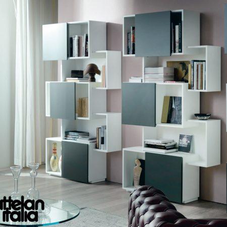 libreria-piquant-cattelan-italia-bookcase-bianco-graphite-white-noce-canaletto-walnut-rovere-oak-original- moderno-offerta-sale-outlet (5)