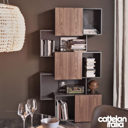 libreria-piquant-cattelan-italia-bookcase-bianco-graphite-white-noce-canaletto-walnut-rovere-oak-original- moderno-offerta-sale-outlet (6)
