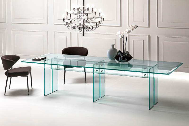 Tavolo Cristallo In Vetro.Table Llt By Fiam Italia Cattelan Arredamenti