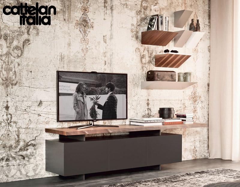 Madia Porta Tv Design.Tv Cabinet Seneca By Cattelan Italia Cattelan Arredamenti