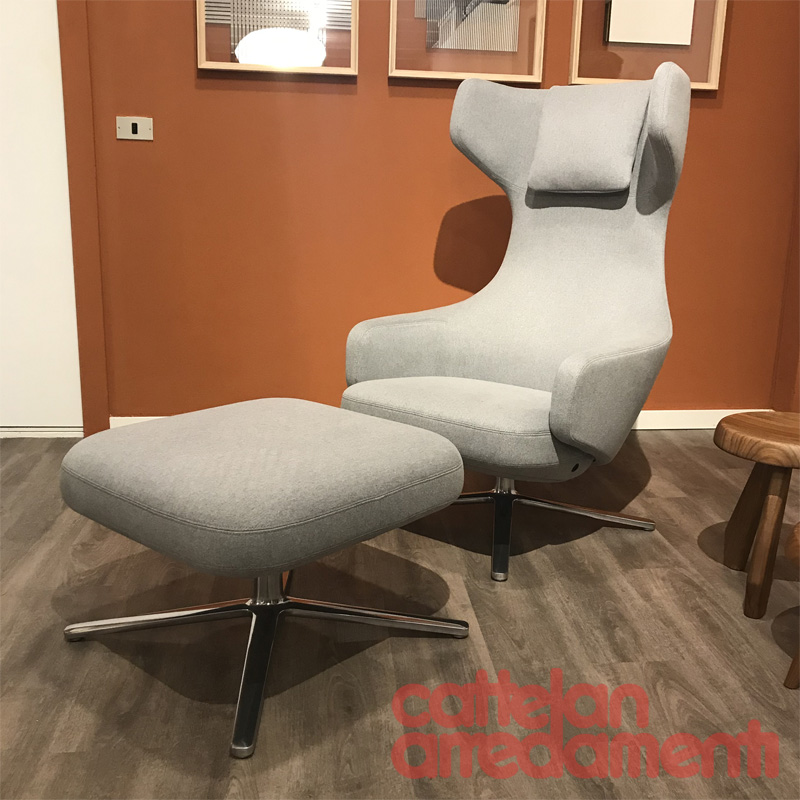 Sedie Vitra Outlet.Promo Armchair Citterio Grand Repos Ottoman By Vitra