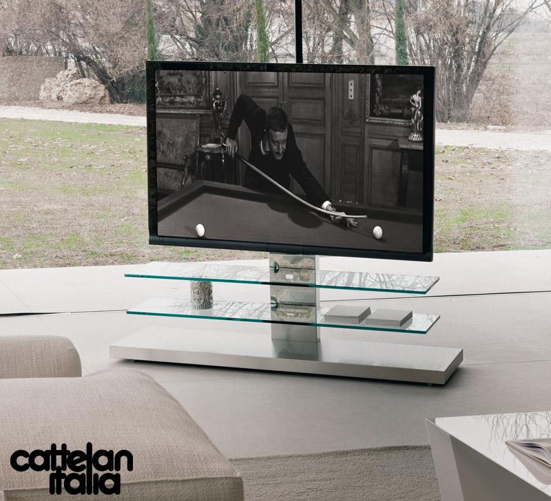 Carrelli Porta Tv Led.Porta Tv Panorama Di Cattelan Italia Cattelan Arredamenti