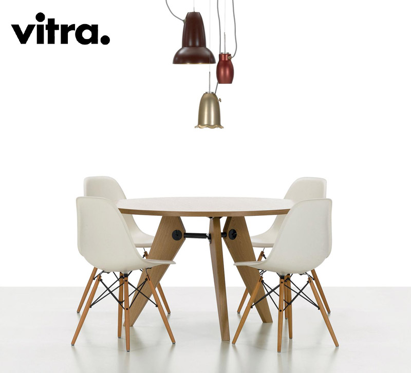 Sedia eames plastic side chair dsr dsw dsx di vitra for Sedia design vitra