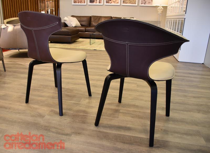 Sedia poltroncina montera poltrona frau chair armchair expo outlet