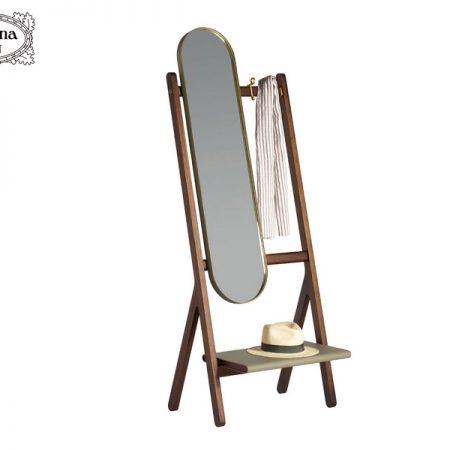 specchio-appendiabiti-da-terra-Ren-standing-mirror-with-hangers-poltrona-frau-design-neri-&-hu-sale-offerta-cuoio-saddle-extra-leather-noce-canaletto-walnut