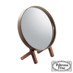 specchio-da-tavolo-Ren-table-mirror-poltrona-frau-design-neri-&-hu-sale-offerta-cuoio-saddle-extra-leather-noce-canaletto-walnut