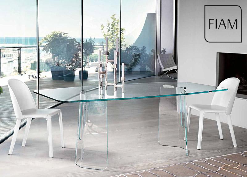 Tavoli In Cristallo Fiam Prezzi.Table Plie By Fiam Italia Cattelan Arredamenti