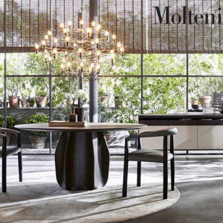 tavolo rotondo asterias round table molteni design patricia urquiola molteni&c legno cemento wood concrete 2