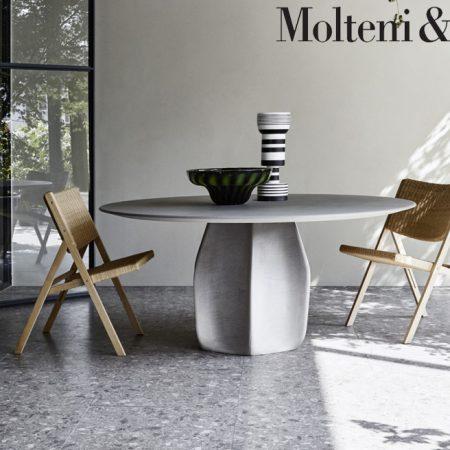 tavolo rotondo asterias round table molteni design patricia urquiola molteni&c legno cemento wood concrete 3
