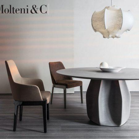 tavolo rotondo asterias round table molteni design patricia urquiola molteni&c legno cemento wood concrete 4