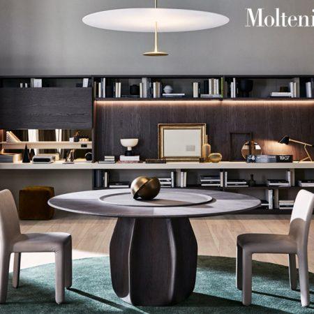 tavolo rotondo asterias round table molteni design patricia urquiola molteni&c legno cemento wood concrete 5