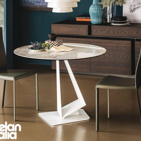 tavolo-rotondo-roger-keramik-cattelan-italia-arredamenti-moderno-round-table-calacatta-alabastro-outlet-offerta-sale-acciaio-steel (2)