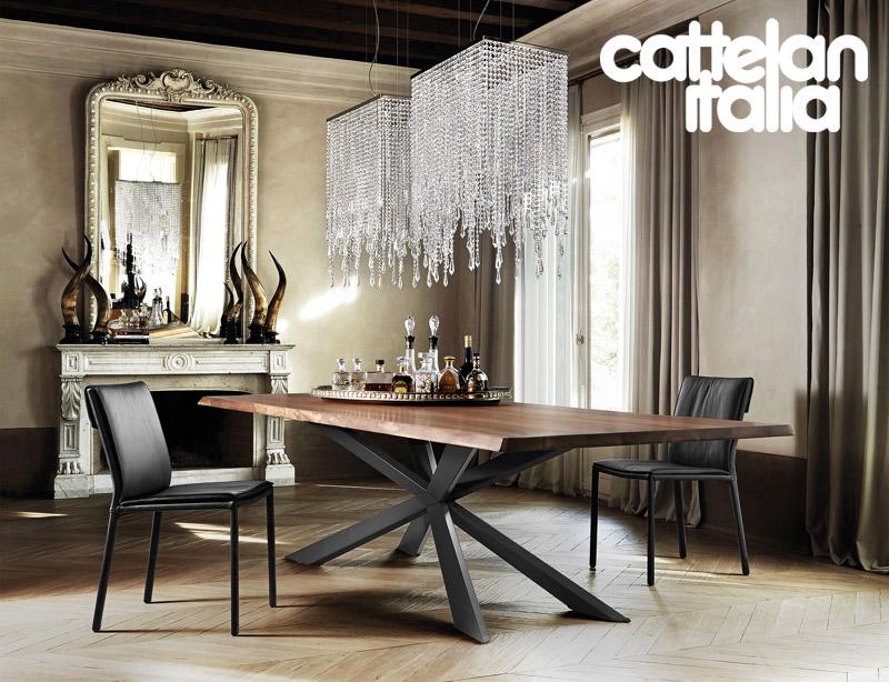 Tavolo spyder wood di cattelan italia cattelan arredamenti for Cattelan arredamenti