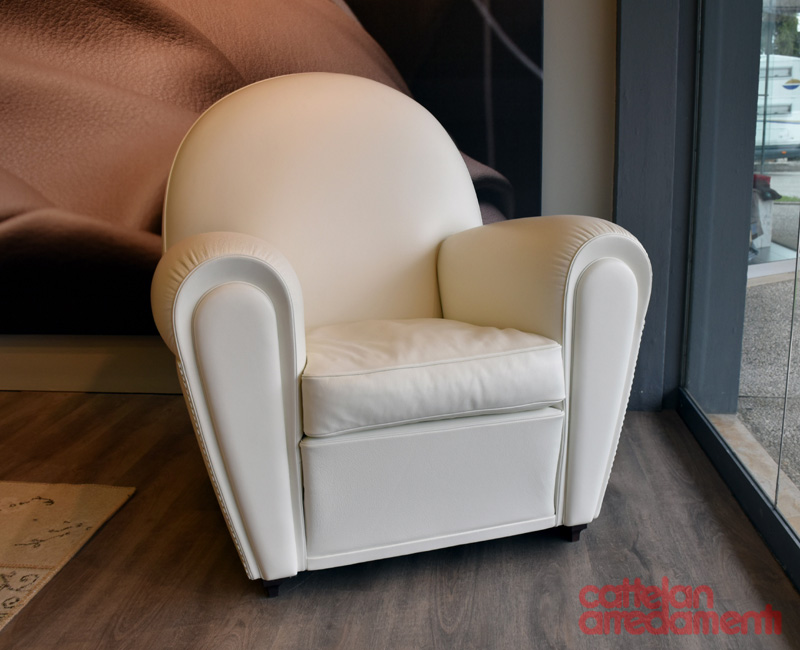 Offer white armchair vanity fair by poltrona frau cattelan